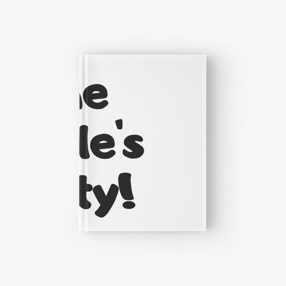 The Single's Party logo Hardcover Journal