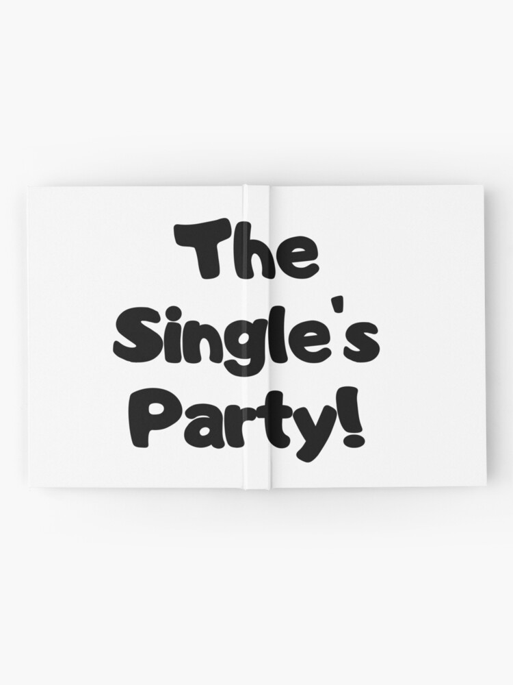 Alternate view of The Single's Party logo Hardcover Journal