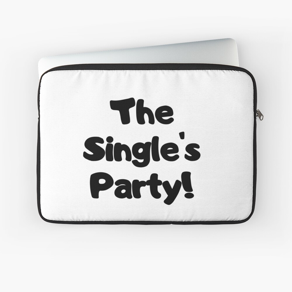 The Single's Party logo Laptop Sleeve