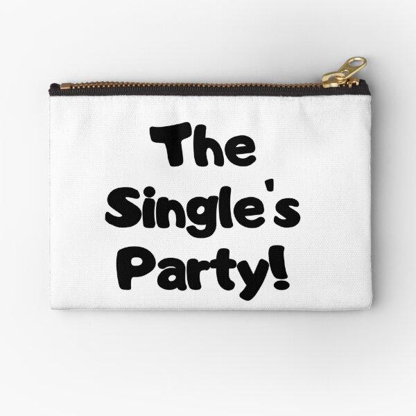The Single's Party logo Zipper Pouch