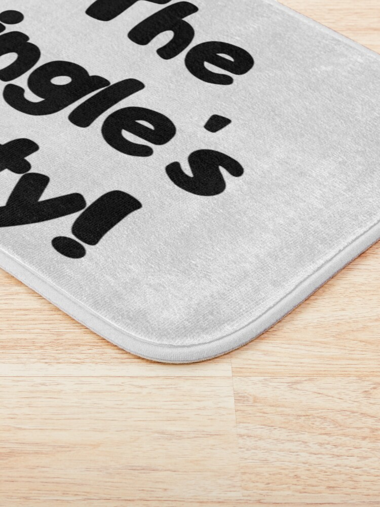 Alternate view of The Single's Party logo Bath Mat