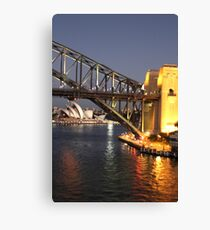 Sydney Harbour Icons Canvas Print