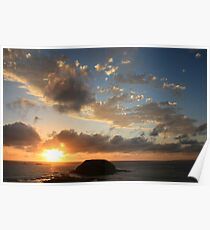 Sunset at Phillip Island Poster