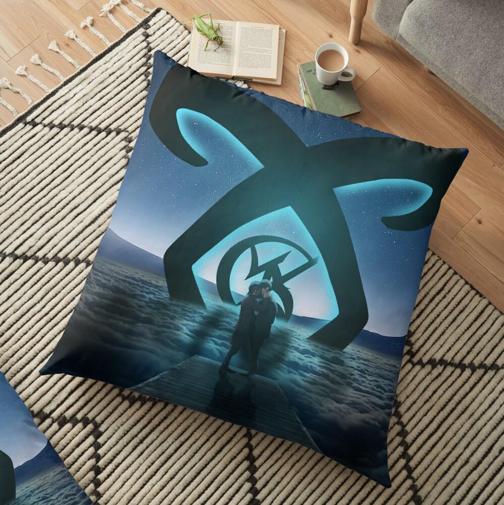 Malec Light Rune Floor Pillow