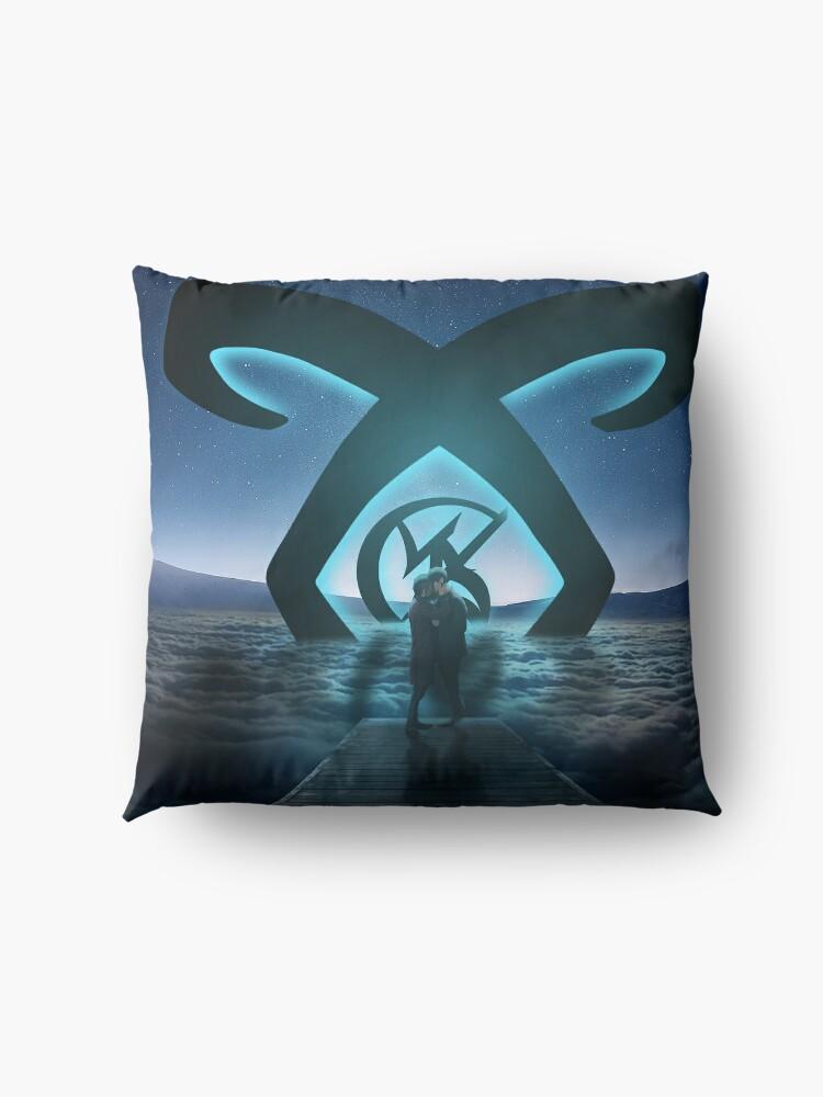 Alternate view of Malec Light Rune Floor Pillow