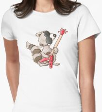 Rocky raccoon Womens Fitted T-Shirt