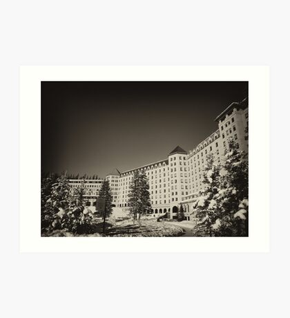 Fairmont Chateau at Lake Louise Art Print