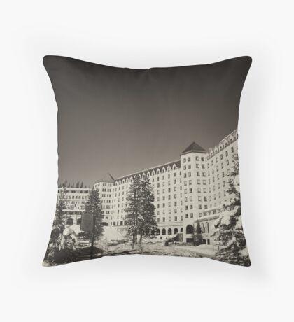 Fairmont Chateau at Lake Louise Throw Pillow