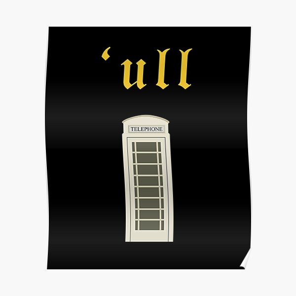 Hull Cream Phone Box From Kingston Upon Hull  Poster