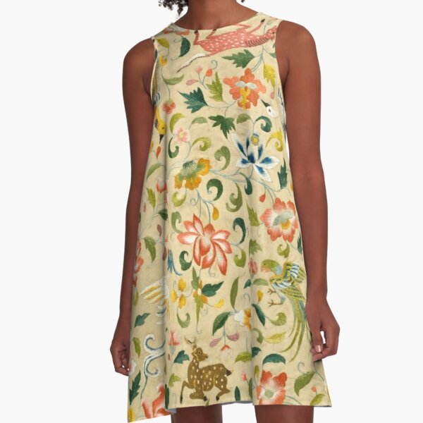 Vintage Flora and Fauna | Flora and Fauna Inspired Gifts A-Line Dress