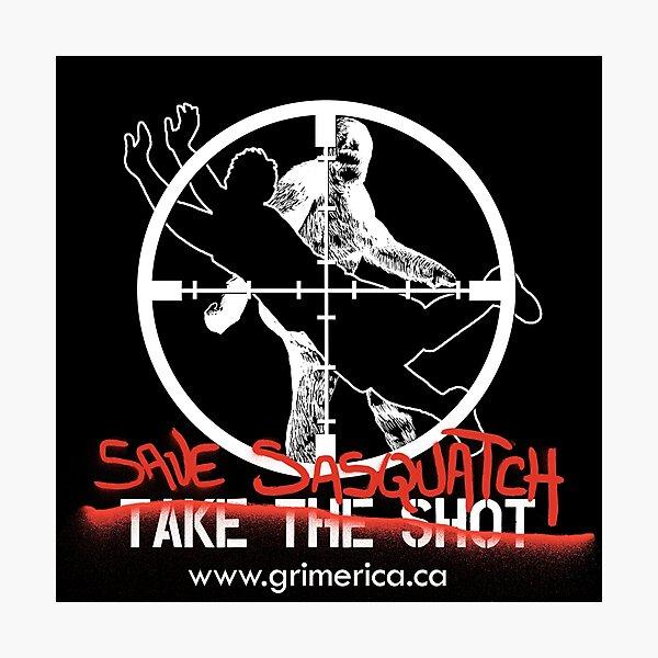 Save Sasquatch Photographic Print