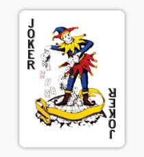 Joker Playing Card Sticker Sticker