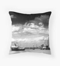 Alexandra dock Grimsby Throw Pillow