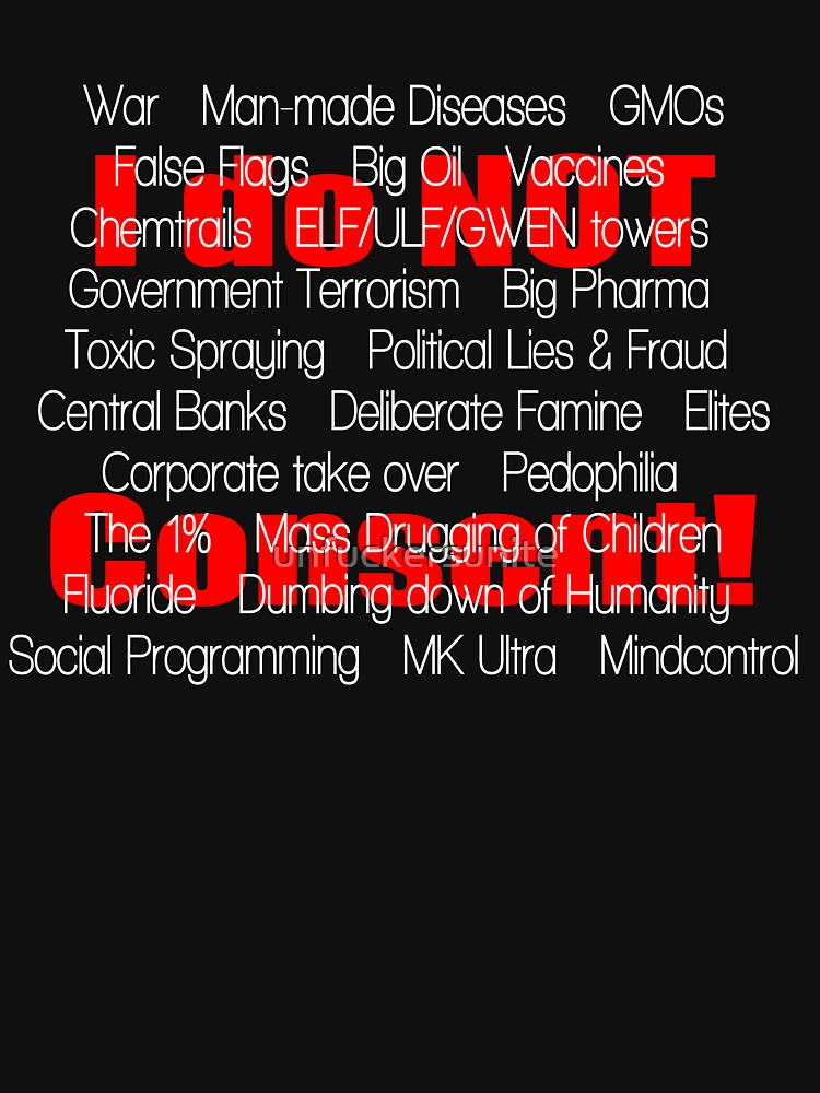 I do not Consent- the list, black by unfuckersunite