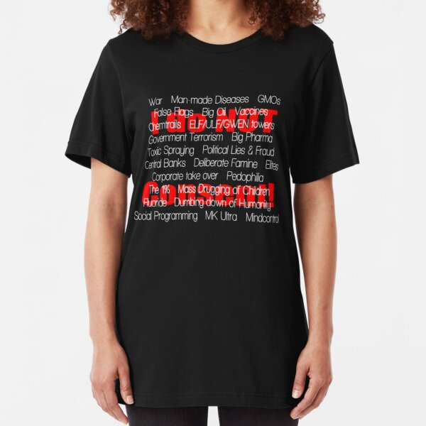 I do not Consent- the list, black Slim Fit T-Shirt