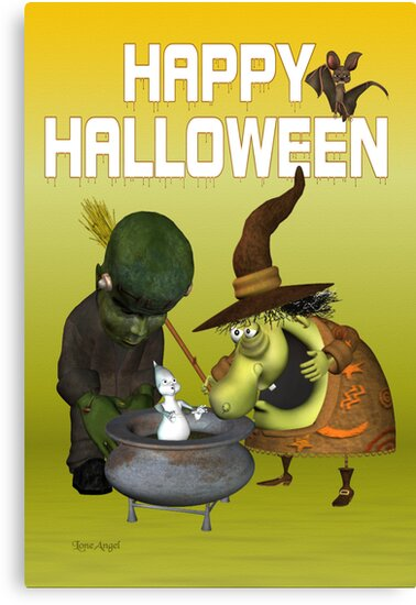 Pot Ghost .. halloween card by LoneAngel