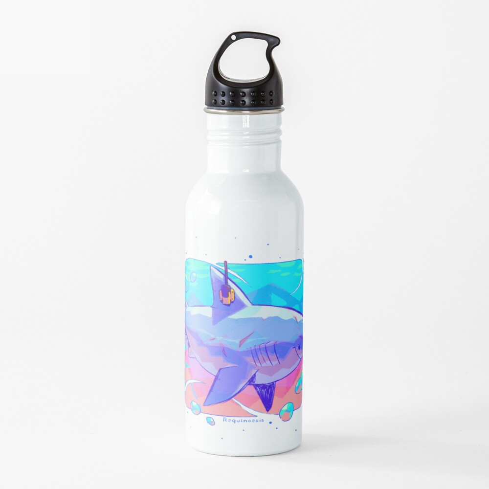 Great White Shork Anatomy Water Bottle