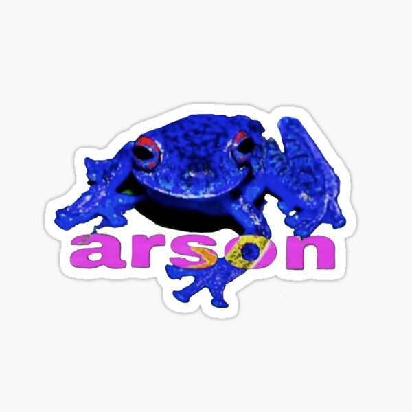 arson frog Sticker
