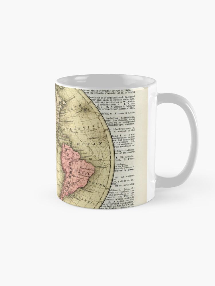 Western Hemisphere Earth map,Vintage Illustration Over Old ... on