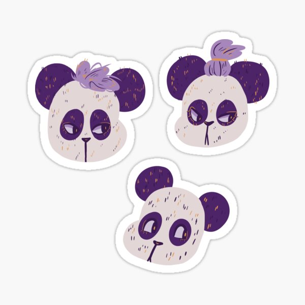 Three Pandas  Sticker