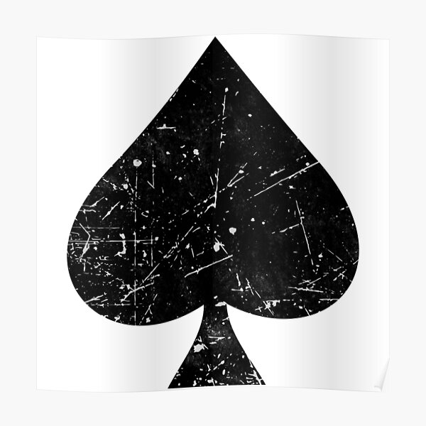 Spades Symbol Playing Cards Sign Black Poster
