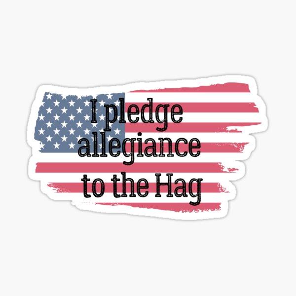 I Pledge Allegiance to the Hag Eric Church  Sticker