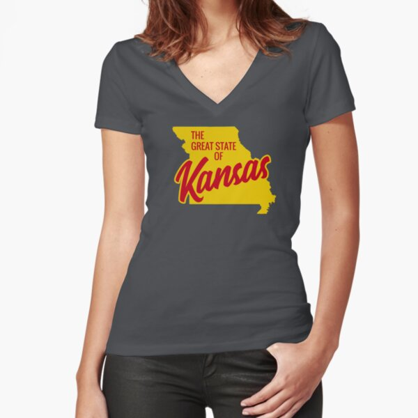 The Great State of Kansas  Fitted V-Neck T-Shirt