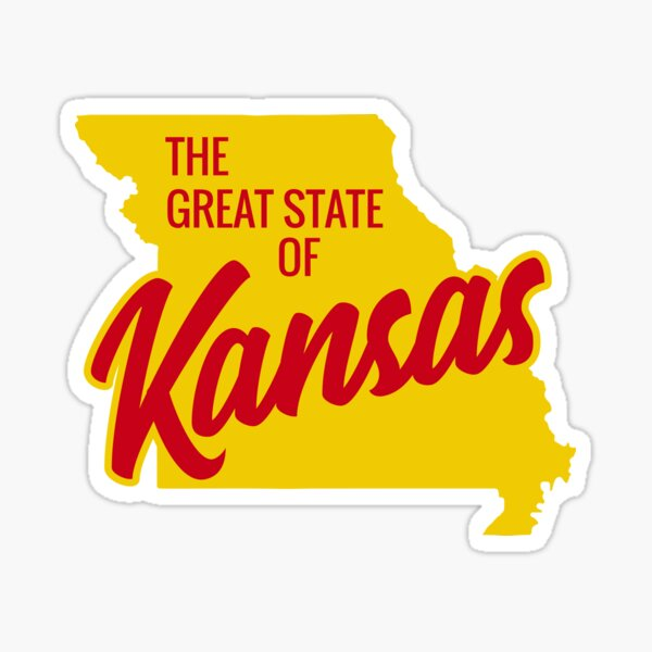 The Great State of Kansas  Sticker