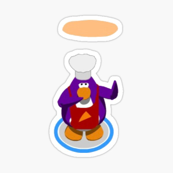club penguin pizza Sticker
