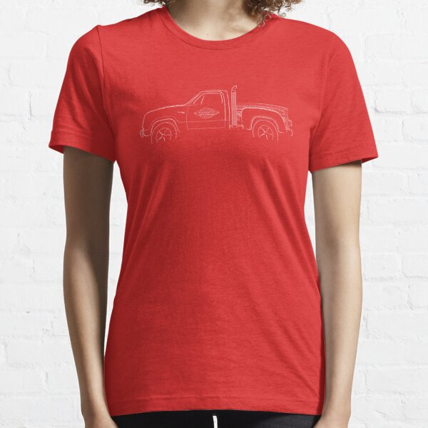 Adventurer D150 - Lil Red Express Pickup - profile stencil, white Essential T-Shirt