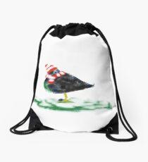 Winter Duck Drawstring Bag