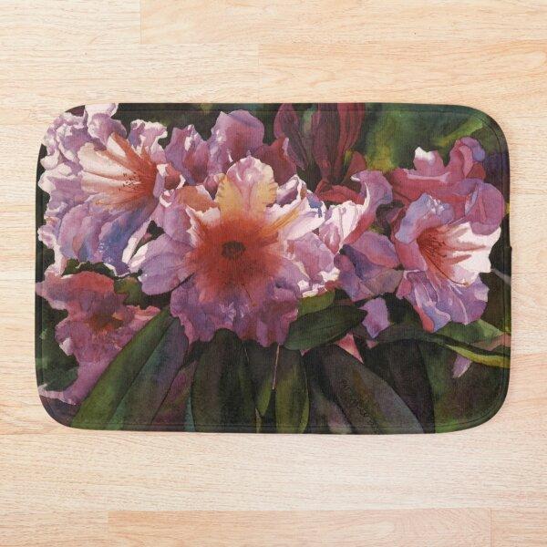 "Watercolor ""Autumn Gold"" Rhododendron  Bath Mat"