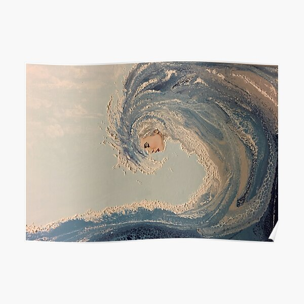 Ocean wave woman Serene Force nature Poster