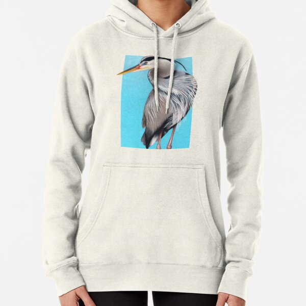 Great Blue Heron art by Wildlife Artist Sherrie Spencer Pullover Hoodie