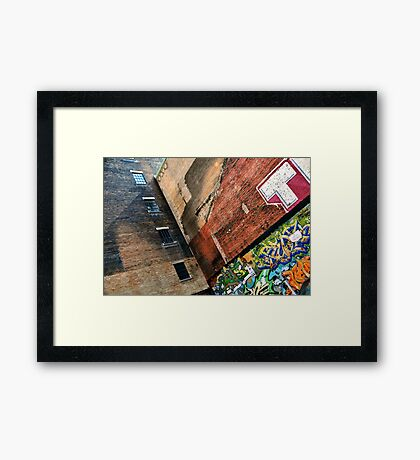 Adjoining Walls Framed Print