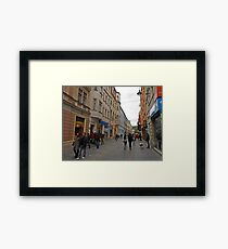 City life in Sarajevo Framed Print