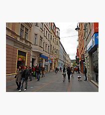 City life in Sarajevo Photographic Print