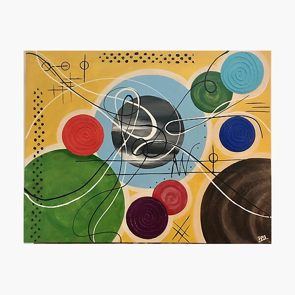 Music abstract color symphony positive Photographic Print