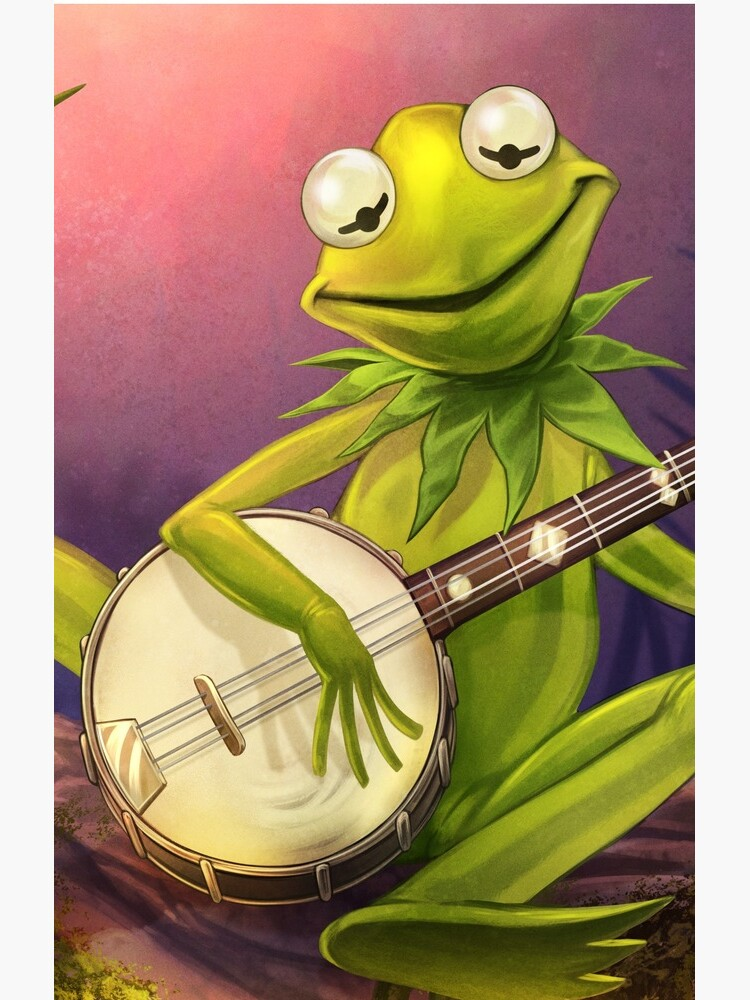 frog: rainbow connection banjo by DavidW-Art