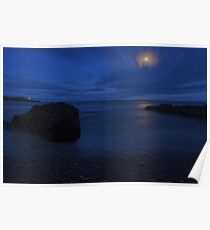 Moonlit Rock - Crosshaven Co. Cork Poster