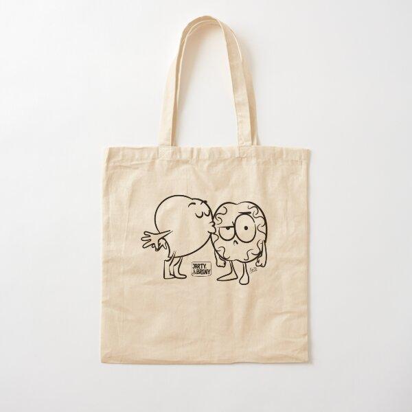 Beso en Blanco y negro Bolsa de algodón