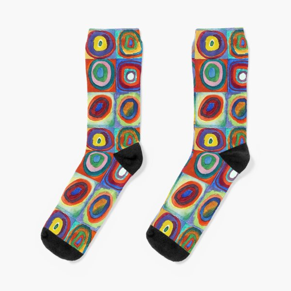 Wassily Kandinsky - Color Study, Squares with Concentric Circles - Bauhaus Art Socks