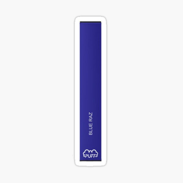 Blue Razz Puff Bar Sticker Sticker