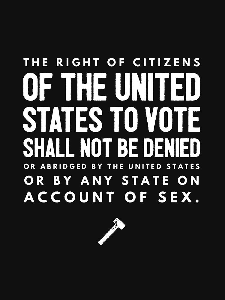 Women's Suffrage 19th Amendment Text by joehx