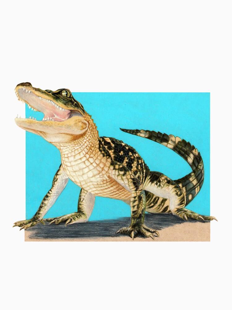 Baby Alligator Smiling! art by Wildlife Artist Sherrie Spencer by serrynawolfe