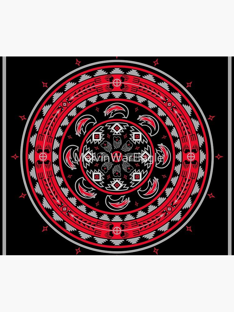 Bear Spirit Red  by MelvinWarEagle