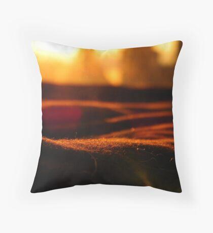 A Warm City Sun Throw Pillow