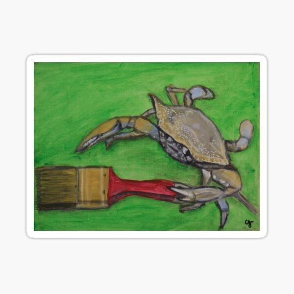 Painter Crab Sticker