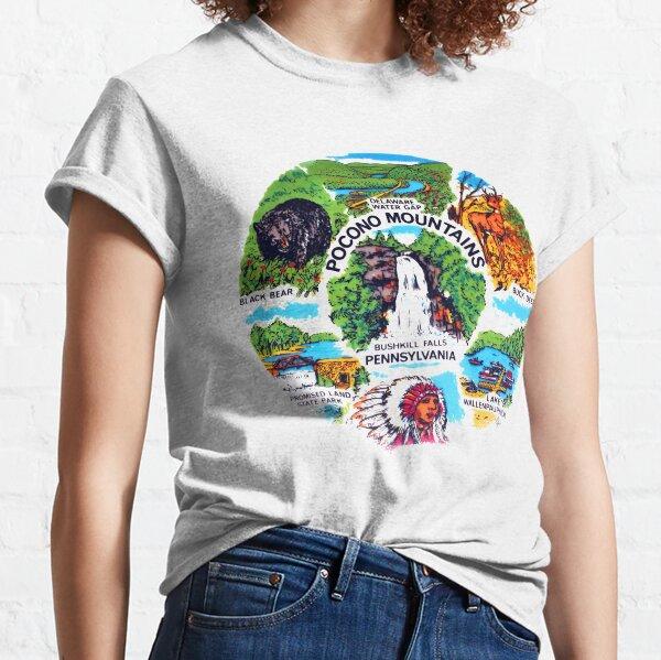 Pocono Mountains, Bushkill Falls, Pennsylvania, Delaware Water Gap, Lake Wallenpaupack, Promised Land State Park Classic T-Shirt