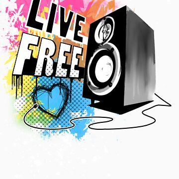 Live Free (Raw Black) by emxacloud